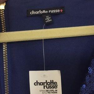 Charlotte Russe Dresses - Blue sequin dress 1X